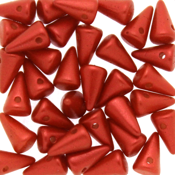 Lava Red Spikes 5x8mm 5g