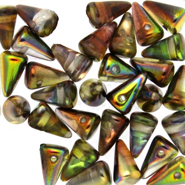 Crystal Magic Green Spikes 5x8mm 5g