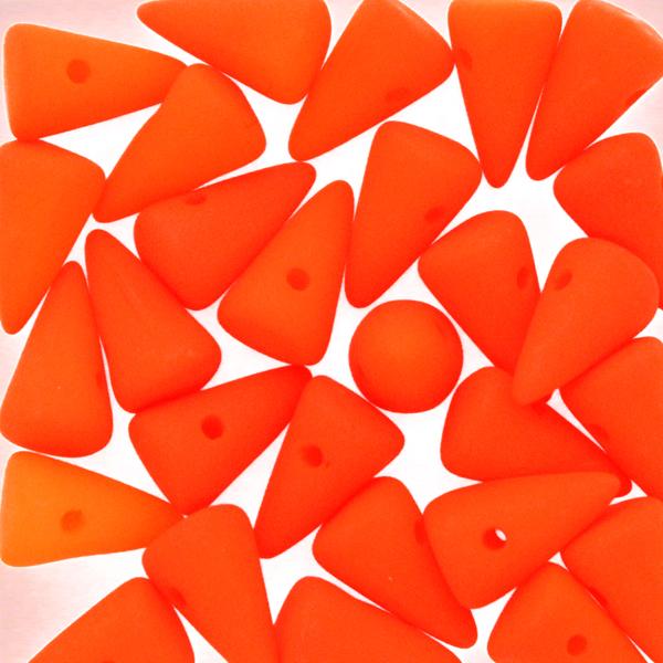 Neon Orange Spikes 5x8mm 5g