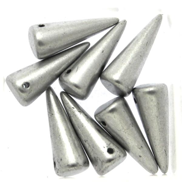 Aluminium Silver Spikes 7x17mm 5g