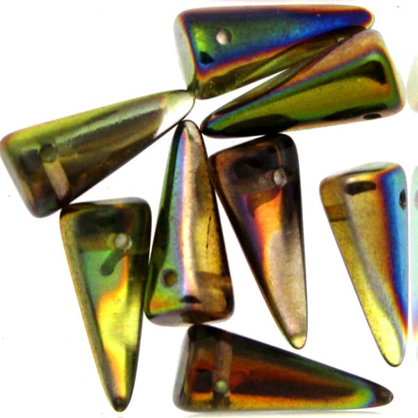 Crystal Magic Green Spikes 7x17mm 5g