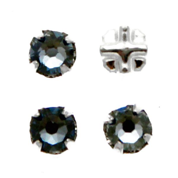 Crystal Blue Shade Swarovski Rose Montées ss12 53100 4st