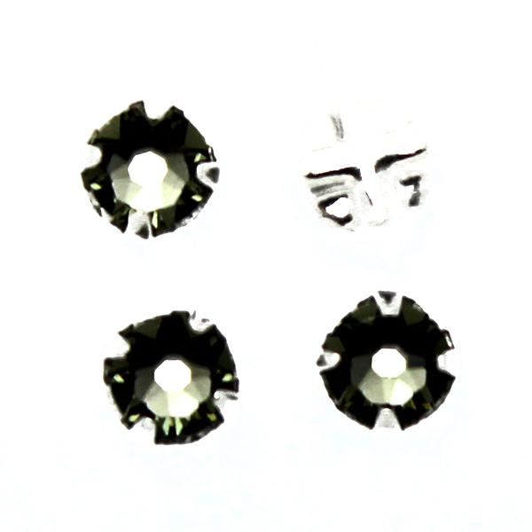 Black Diamond Swarovski Rose Montées ss30 53103 4st