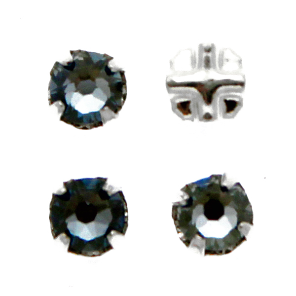 Crystal Blue Shade Swarovski Rose Montées ss30 53103 4st