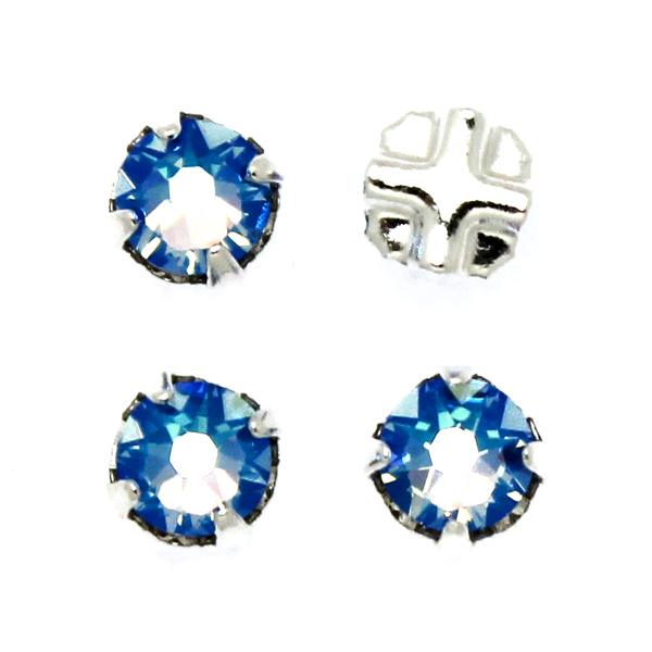 Light Sapphire Shimmer Swarovski Rose Montées ss30 53103 4st