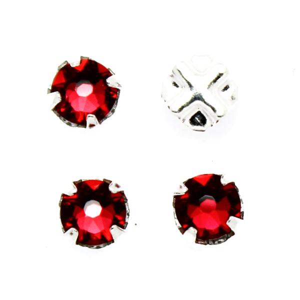 Scarlet Swarovski Rose Montées ss30 53103 4st