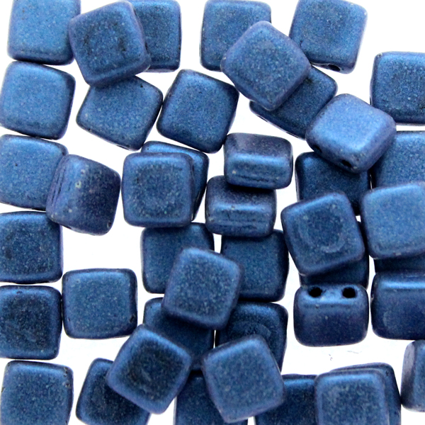 Metallic Suede Blue Tile 10g