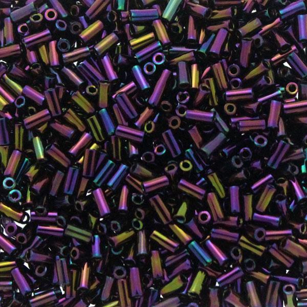 Metallic Dark Plum Iris BGL1-0454 Miyuki Bugle Beads 3mm 10g