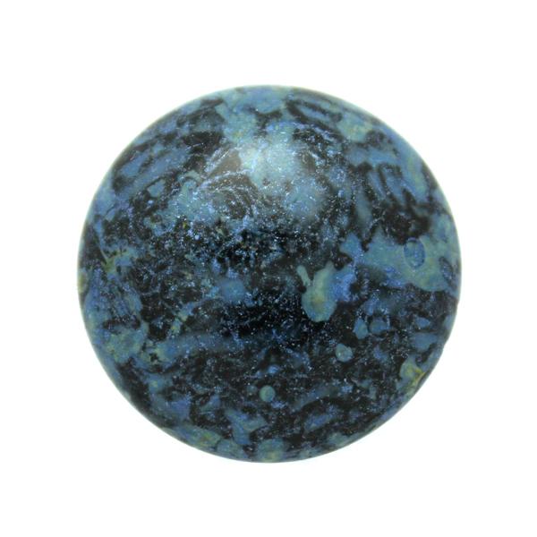 Metallic Mat Blue Spotted Cabochon Par Puca 25mm 1st