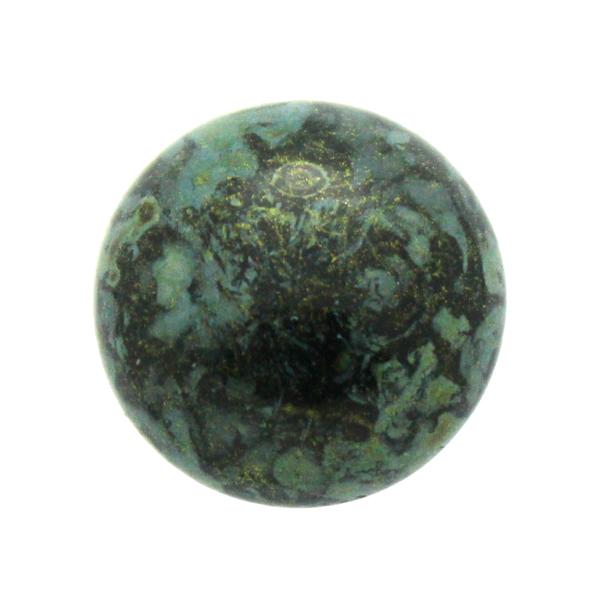 Metallic Mat Green Spotted Cabochon Par Puca 25mm 1st