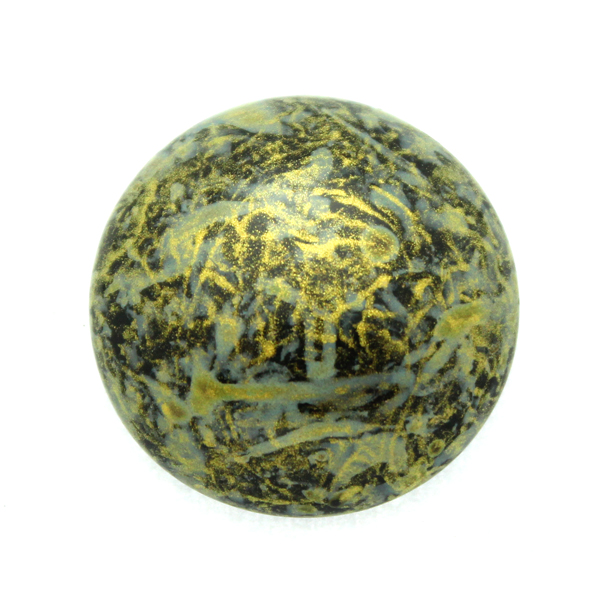 Metallic Mat Old Gold Spotted Cabochon Par Puca 25mm 1st