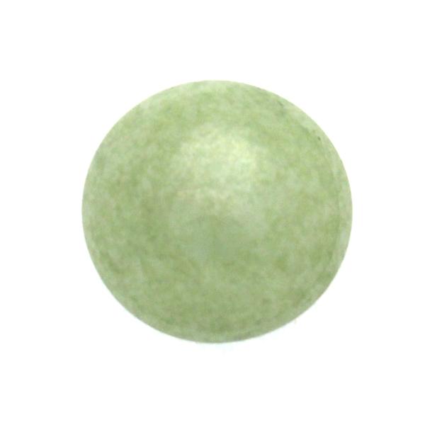 Opaque White Mint Luster Cabochon Par Puca 25mm 1st