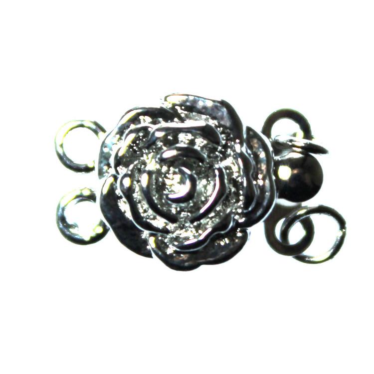 Boxlås 2/2öglor Ros Mörkt Silverfärgad 14x9mm 1st