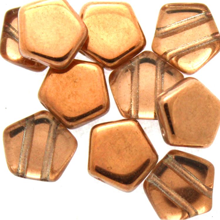 Crystal Capri Gold Pego Bead 10mm 10st