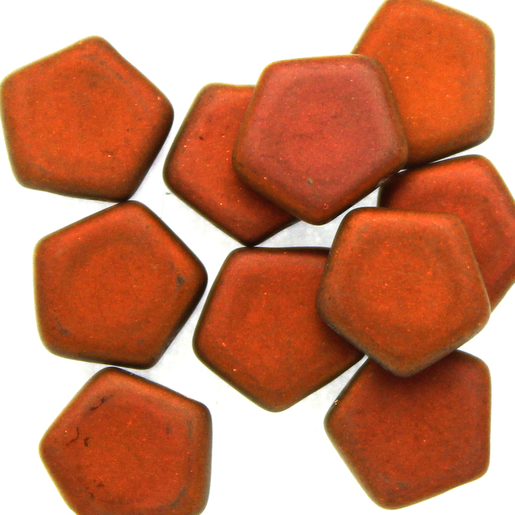 Crystal Sunset Full Matted Pego Bead 10mm 10st