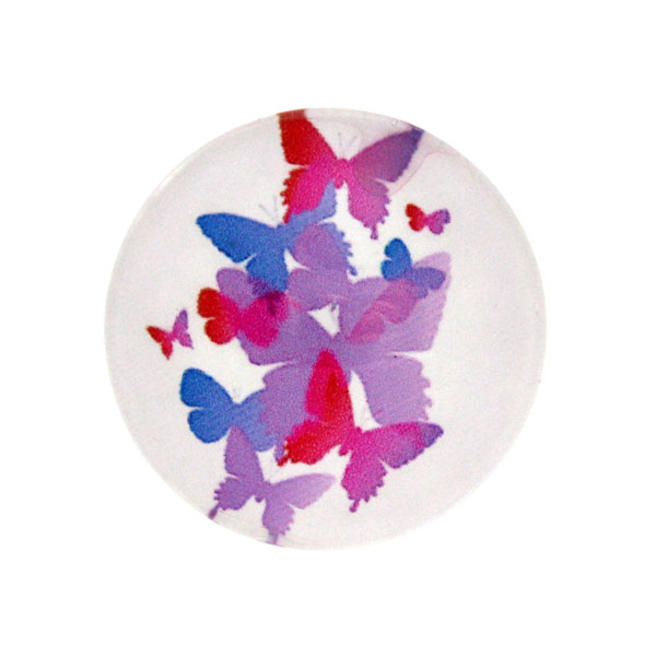 Fjärilar Vit Bakgrund 4 Cabochon 25mm 1st