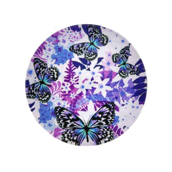 Fjärilar Vit Bakgrund 5 Cabochon 25mm 1st