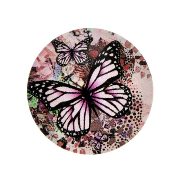 Fjärilar Vit Bakgrund 10 Cabochon 25mm 1st