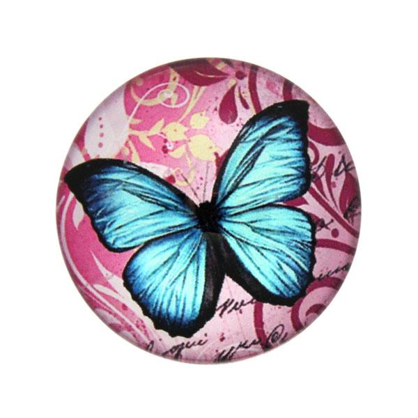 Fjärilar med Text 2 Cabochon 25mm 1st