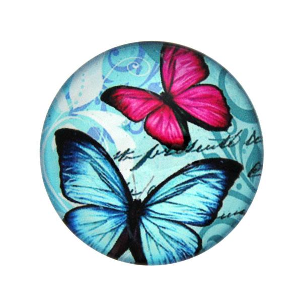 Fjärilar med Text 3 Cabochon 25mm 1st