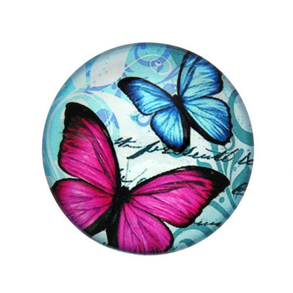 Fjärilar med Text 4 Cabochon 25mm 1st