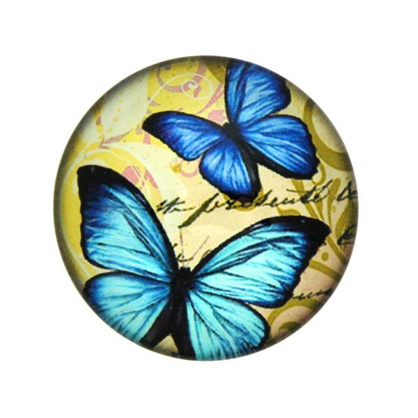 Fjärilar med Text 5 Cabochon 25mm 1st