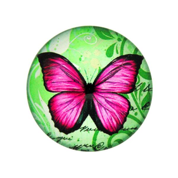 Fjärilar med Text 6 Cabochon 25mm 1st