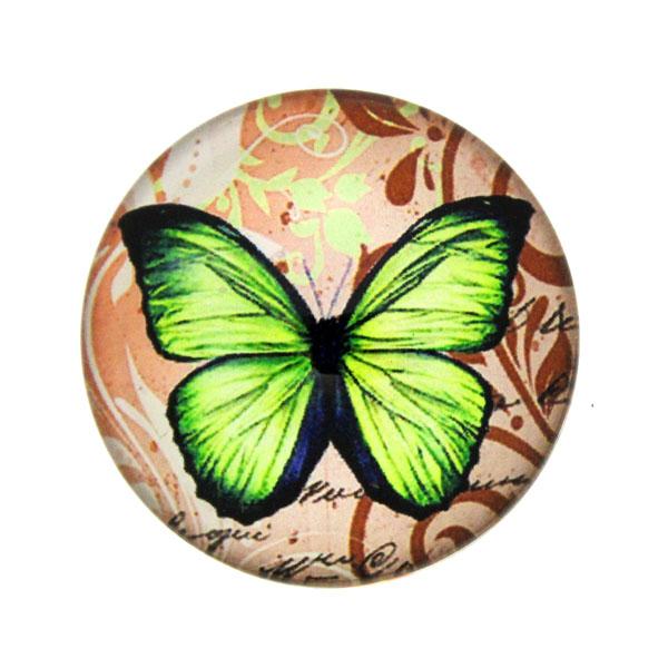 Fjärilar med Text 7 Cabochon 25mm 1st