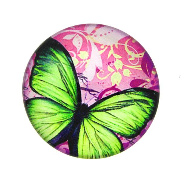 Fjärilar med Text 8 Cabochon 25mm 1st