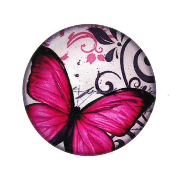 Fjärilar med Text 9 Cabochon 25mm 1st