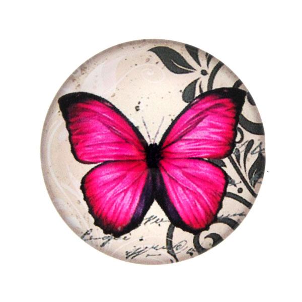 Fjärilar med Text 10 Cabochon 25mm 1st