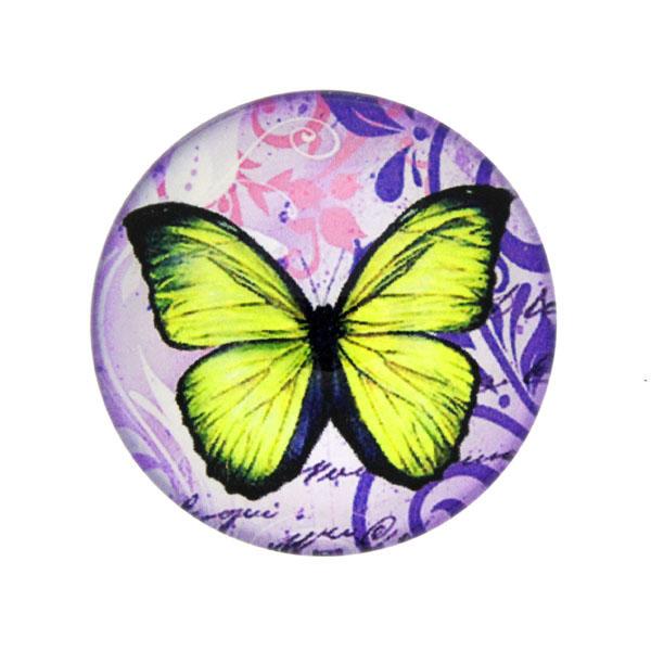 Fjärilar med Text 11 Cabochon 25mm 1st