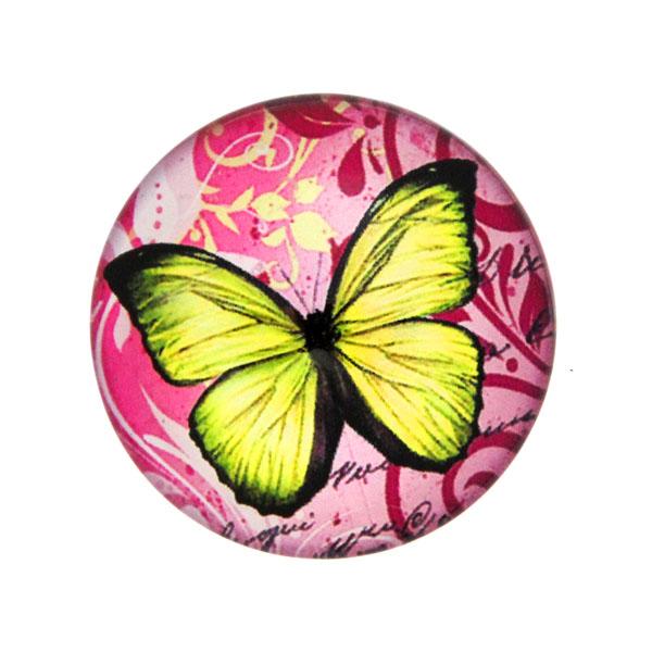 Fjärilar med Text 12 Cabochon 25mm 1st