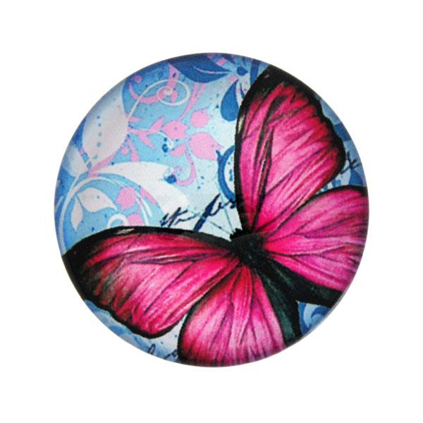 Fjärilar med Text 13 Cabochon 25mm 1st