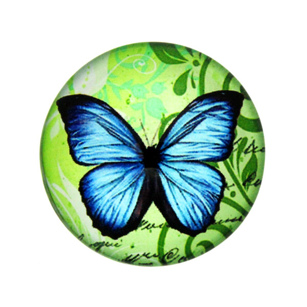 Fjärilar med Text 14 Cabochon 25mm 1st