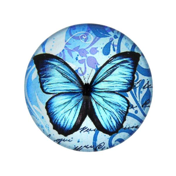 Fjärilar med Text 15 Cabochon 25mm 1st