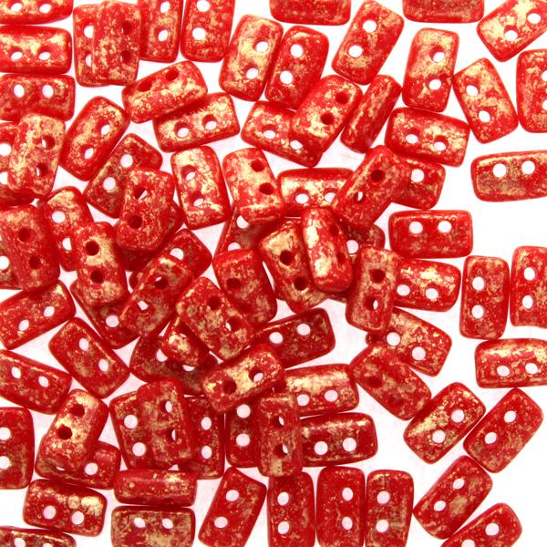 Opaque Red Gold Splash Piros 5g