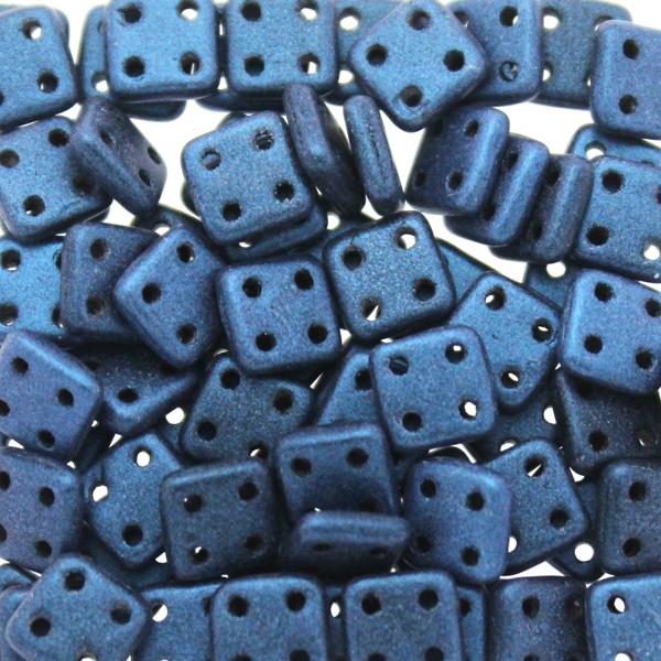 Metallic Suede Blue Quadratile 10g