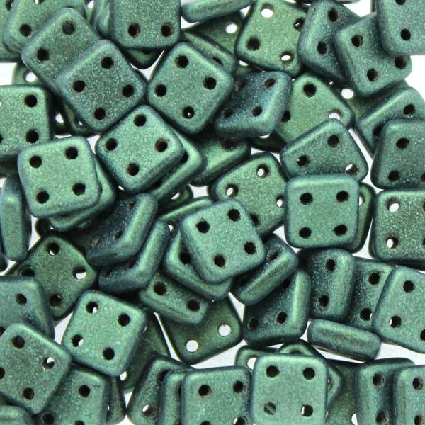 Metallic Suede Light Green Quadratile 10g