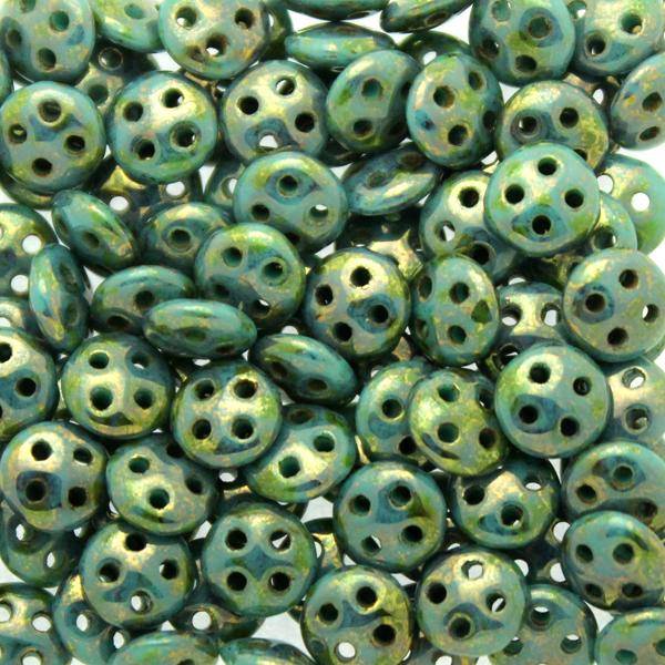 Dark Turquoise Bronze Picasso Quadralentil 10g