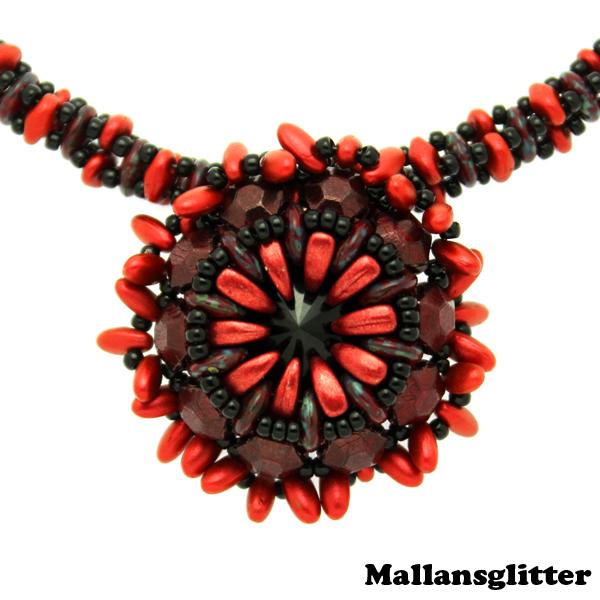 Q Necklace Kit Red/Black (EJ MÖNSTER ENDAST PÄRLOR)