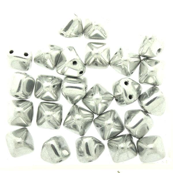 Crystal Labrador Full Pyramid Beads 6x6mm 25st
