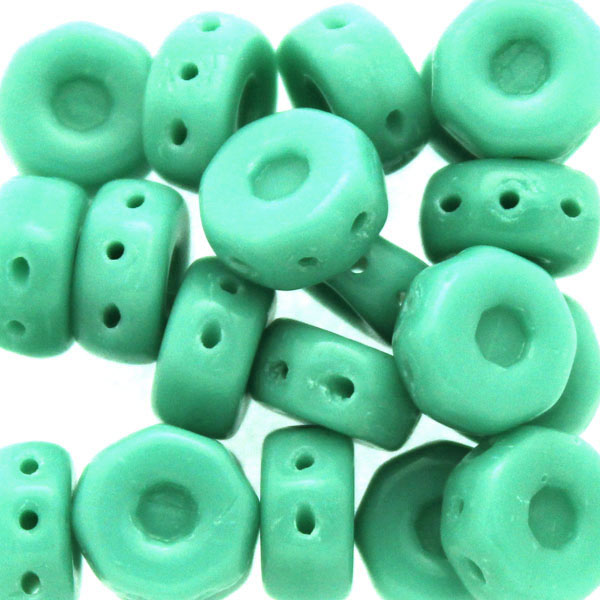 Green Turquoise Octo Beads 10g