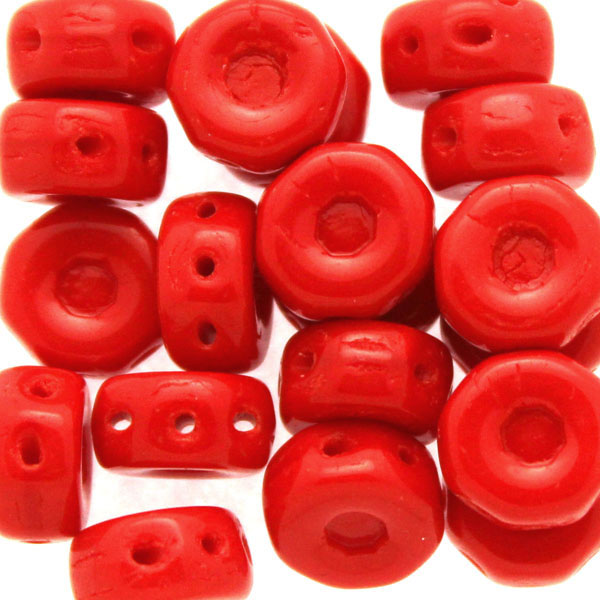 Opaque Red Octo Beads 10g