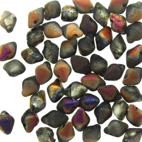 Crystal Etched Sliperit Full Dark Spiky Button 50st