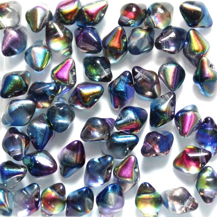 Crystal Magic Blue Spiky Button 50st