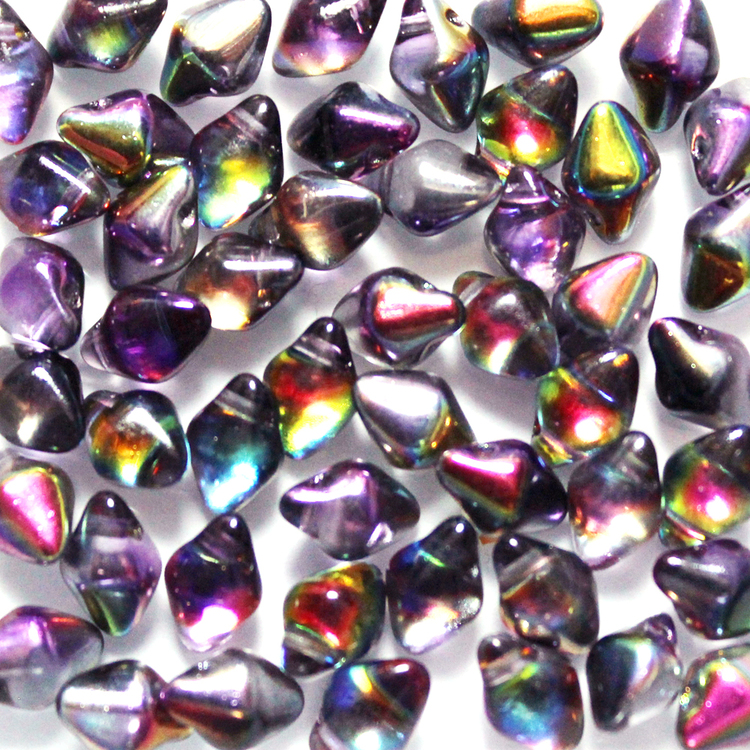 Crystal Magic Purple Spiky Button 50st