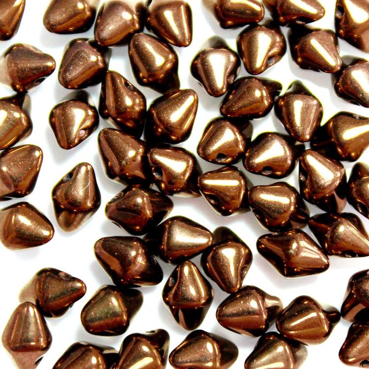 Jet Bronze Spiky Button 50st