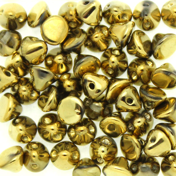 Crystal Amber Full Button Bead 50st