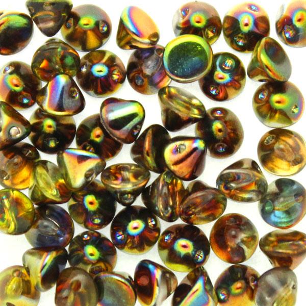 Crystal Magic Green Button Bead 50st